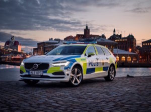 Volvo V90 readied for use by Swedish police force