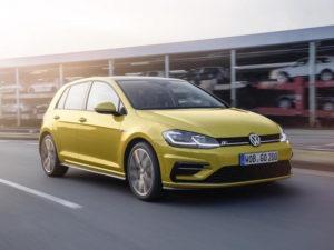 Yellow VW Golf