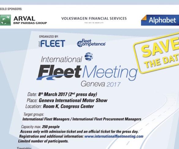 International Fleet Meeting to take place at 2017 Geneva Motor Show