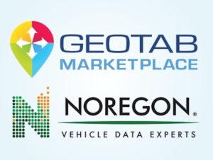 Geotab and Noregon logos