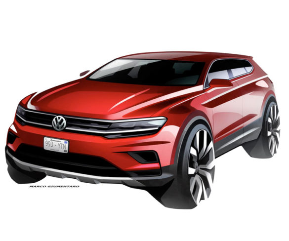 VW teases seven-seat Tiguan Allspace ahead of Detroit reveal