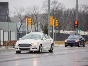 Autonomous Ford vehicles on test