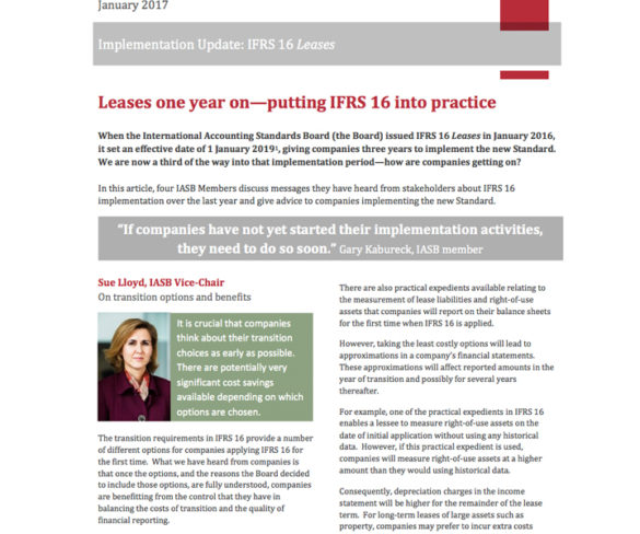 IASB issues top implementation tips for new Leases Standard
