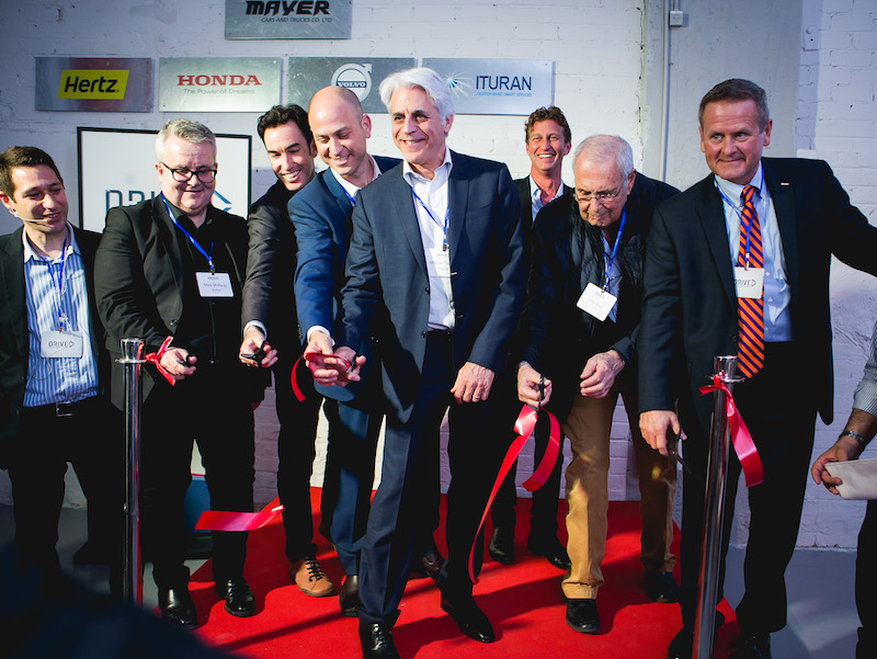 Group of men opening at the opening of DRIVE Innovation Center