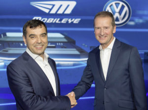 Prof. Amnon Shashua (Chairman Mobileye) and Dr. Herbert Diess (Chairman Volkswagen brand)