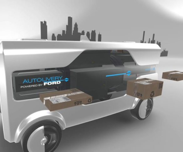 Ford concept pairs up autonomous vehicles and drones for 'last mile' deliveries