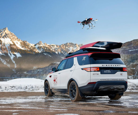 Drone-carrying Land Rover Discovery created for Austrian Red Cross