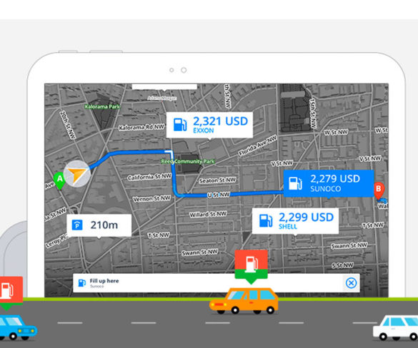 Sygic updates car navigation app with fuel prices function