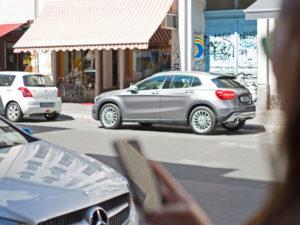 Car2go user on street