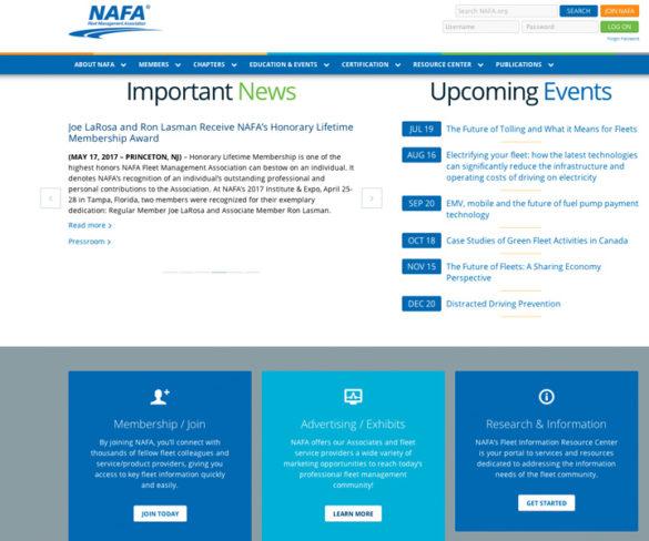 Latest NAFA website brings enhanced functionality