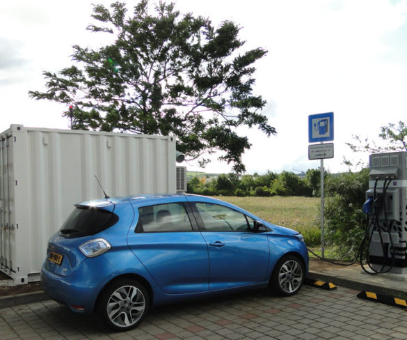 Second-life batteries power charge points along Belgian and German highways