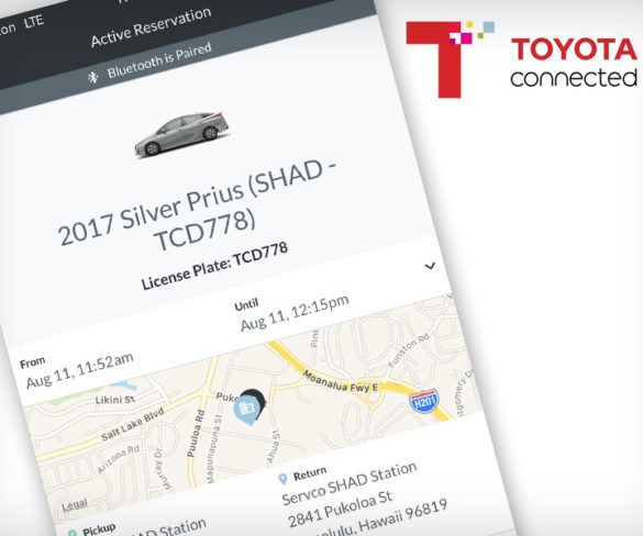 Toyota and Servco launch car-sharing application testing in Hawaii