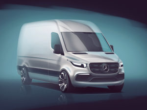 Sketch of forthcoming new Mercedes-Benz Sprinter