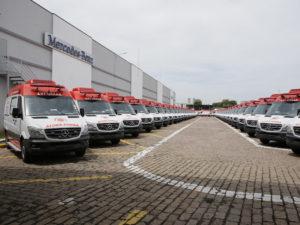 Brazilian Ministry of Health's Mercedes-Benz Sprinter ambulances