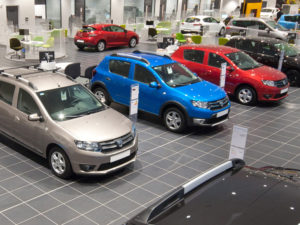 Dacia dealership showroom