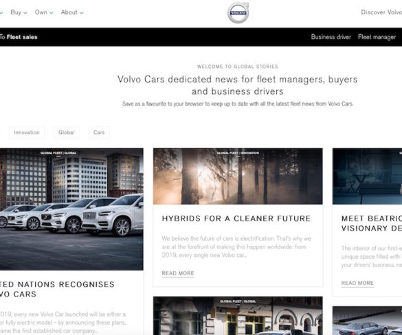 Volvo goes live with global news hub for fleets