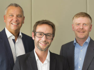 Alexandre Sorel, CEO, Pascal Brasseur and Erhard Paulat