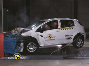 Euro NCAP has given the Fiat Punto its first-ever zero-star rating