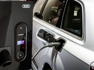 Audi is running a pilot project in Ingolstadt & Zurich combining photovoltaics with battery storage