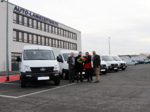 Maxus EV80 electric vans being delivered