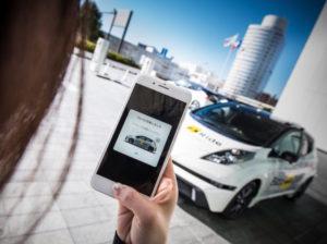 The autonomous taxis will run along a set route.