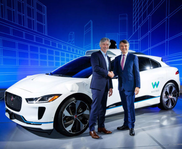 Jaguar and Google to launch 20,000 driverless EVs