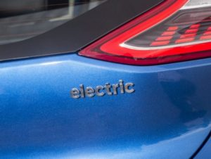 Electric vehicle badge