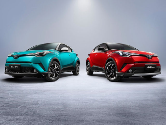 The Toyota C-HR-based electric vehicle will be sold as C-HR by GAC Toyota Motor and as IZOA by FAW Toyota Motor Sales