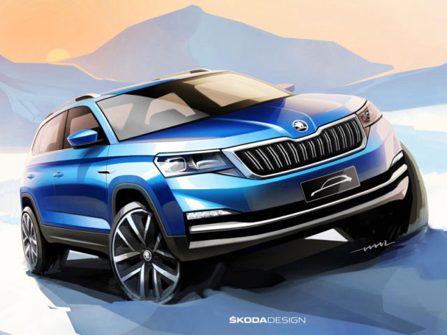Škoda in China has released first sketches of a new Chona-only SUV