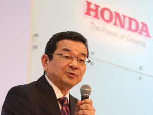 Takahiro Hachigo, president and chief executive officer of Honda