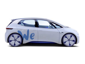VW's WE platform will offer electric vehicle-on-demand services, in particular car sharing