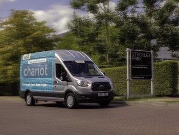 Ford has expanded the Chariot ride-hailing minibus service to cover the Stockley Park development