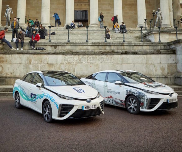 University College London trials Toyota Mirai hydrogen fuel cell car