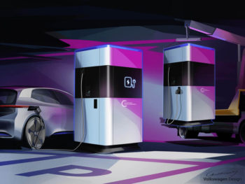 Volkswagen offers First Glimpse of Mobile Charging Station