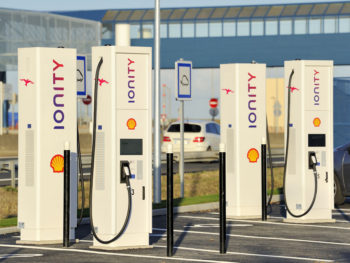 IONITY rapid chargers along the Autoroute A11