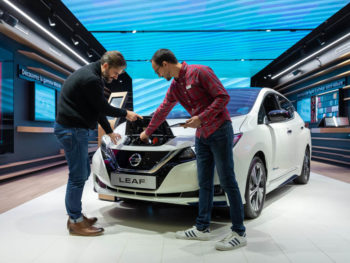 The first Nissan City Hub has made its worldwide debut in France