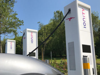 The first of the new Ionity/Extra charging stations will be located at Extra's new M1 J45 Leeds Skelton Lake MSA later this year