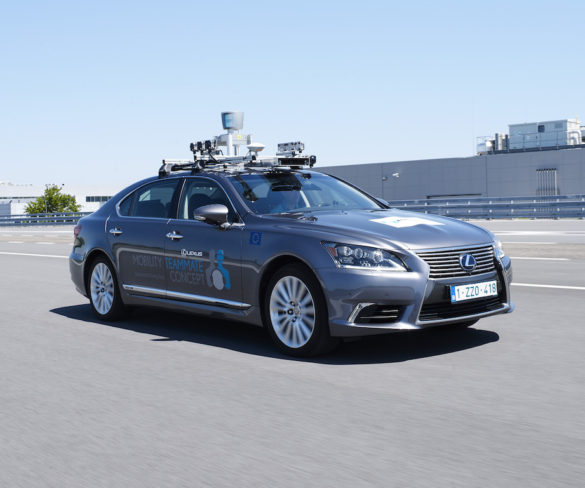 Autonomous Lexus LS takes to roads in Belgium