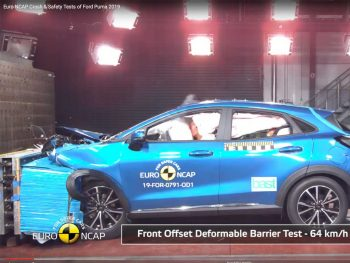 The new Ford Puma scored the maximum five-star Euro NCAP crash test rating