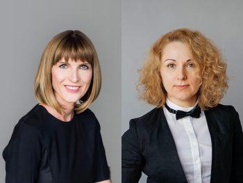 Klaudija Casar Torkar (left) and Olena Tymofiyiva (right)