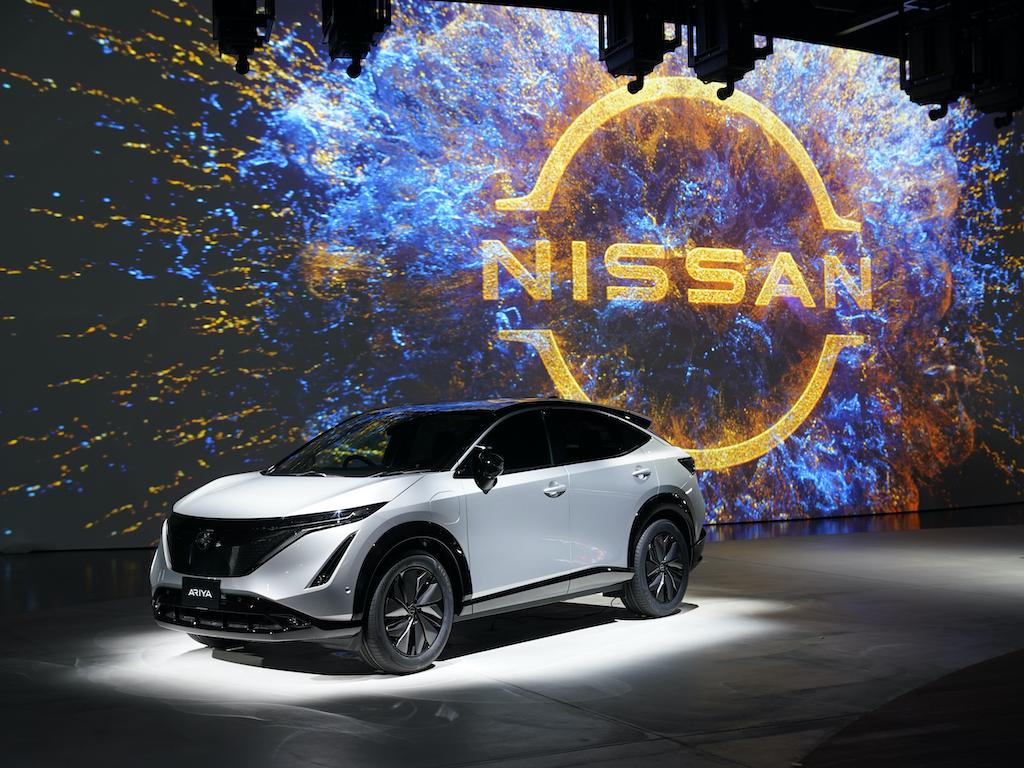 nissan ariya electric coupe crossover to challenge tesla model y international fleet world challenge tesla model